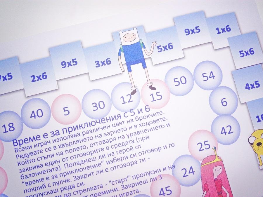 Математическа игра упражняваща таблицата за умножение
