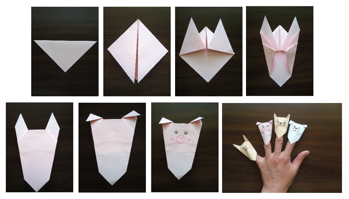 куклен театър с оригами
