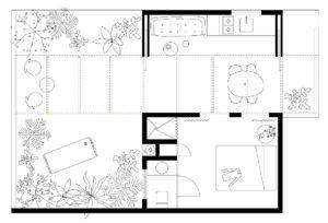 пространствено мислена и план на хола